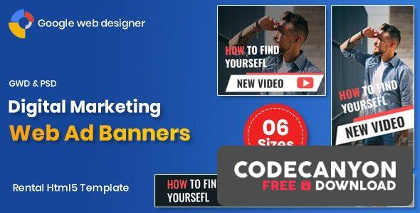 Download Digital Marketting Banners GWD Free / Nulled