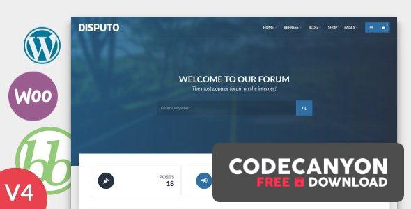 Download Disputo v4.3 – WordPress bbPress Forum Theme Free / Nulled