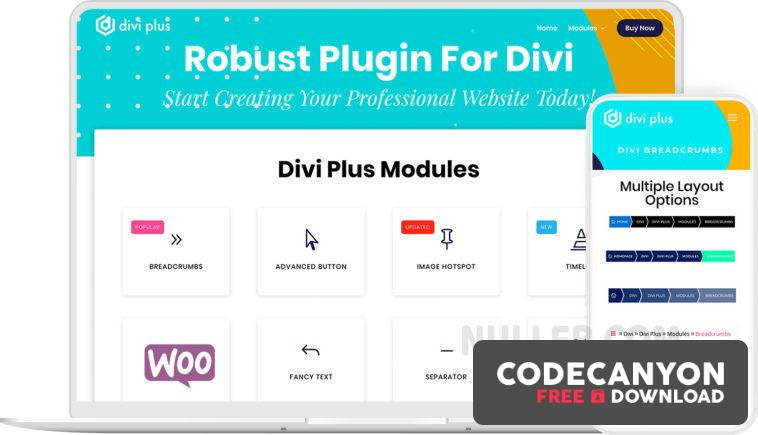 Download Divi Plus v1.6.5 – Add 49 New Modules and 4 Extensions to Divi Theme Free / Nulled