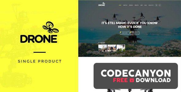 Download Drone v1.26 – Single Product WordPress Theme Free / Nulled