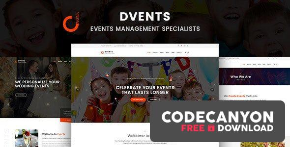 Download Dvents v1.1.7 – Events Management Companies and Agencies WordPress Theme Free / Nulled