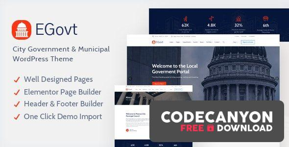 Download EGovt v1.0.4 – City Government WordPress Theme Free / Nulled