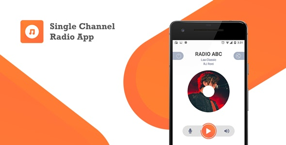 Download Single Channel Streaming Radio Application with Dynamic Backend v1.0 - Mobile App Free / Nulled