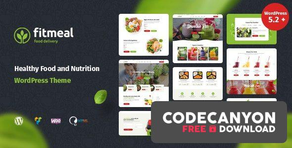Download Fitmeal v1.2.5 – Healthy Food Delivery and Diet Nutrition WordPress Theme Free / Nulled