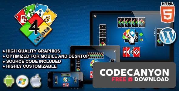 Download Four Colors – HTML5 Card Game Free / Nulled
