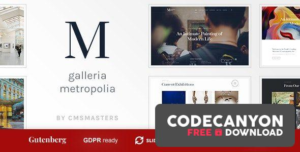 Download Galleria Metropolia v1.1.2 – Art Museum & Exhibition Gallery Theme Free / Nulled