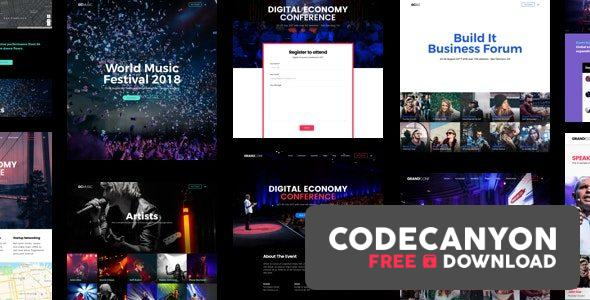 Download Grand Conference | Event WordPress v4.2 (Nulled) Free / Nulled