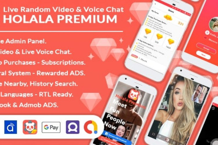 Download HOLALA Premium v1.0 - Live Random Video/Voice Call + Admin Panel + Ads + In-App Purchases Free / Nulled