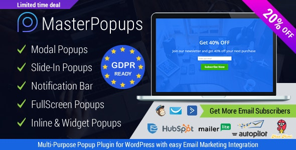 Download Master Popups v3.6.0 - Popup Plugin for Lead Generation Free / Nulled