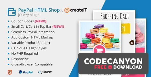 Download jQuery Paypal HTML Shop v1.7 Free / Nulled