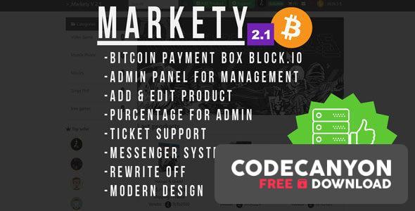Download Markety v2.1 – Multi-Vendor Marketplace In Bitcoin PHP Free / Nulled