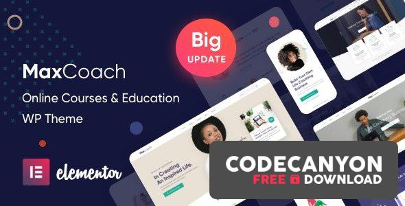 Download MaxCoach v2.0.2 – Online Courses & Education WP Theme Free / Nulled
