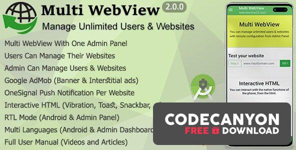Download Multi WebView + Admin Panel v2.0 Free / Nulled