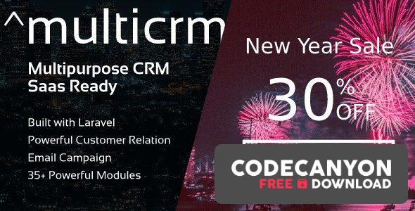 Download Multicrm v3.1.5 – Multipurpose Powerful Laravel CRM Free / Nulled