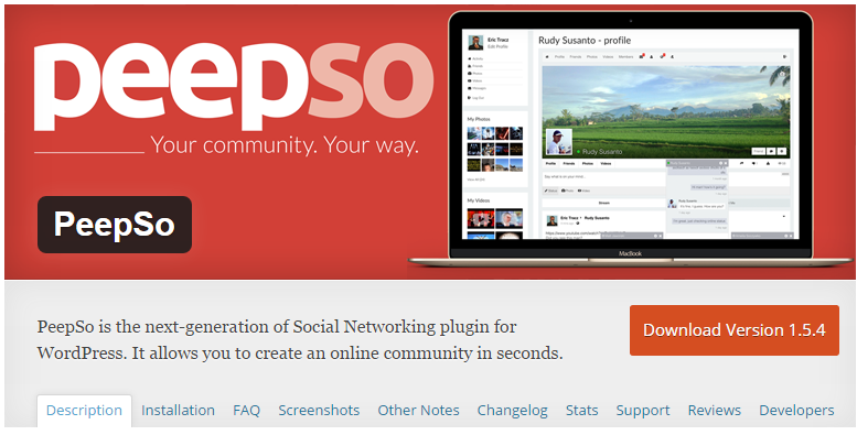 Download PeepSo Ultimate Bundle v2.7.7 - The Next Generation Social Networking Plugin Free / Nulled