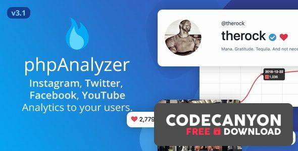 Download phpAnalyzer v3.1.4 – Social Media Analytics Statistics Tool ( Instagram, Twitter, YouTube, Facebook ) (Nulled) Free / Nulled