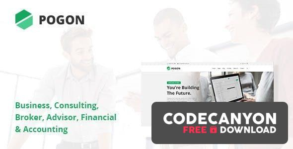 Download Pogon v1.0.5 – Business and Finance Corporate WordPress Theme Free / Nulled