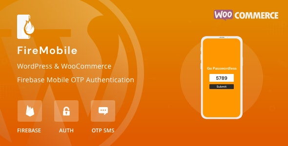 Download FireMobile v1.0.1 - WordPress & WooCommerce firebase mobile OTP authentication Free / Nulled