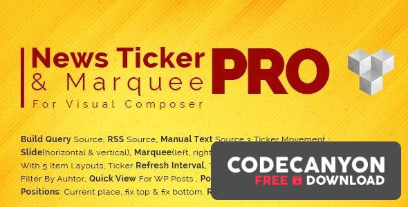 Download Pro News Ticker & Marquee for WPBakery Page Bilder v1.3.3 Free / Nulled
