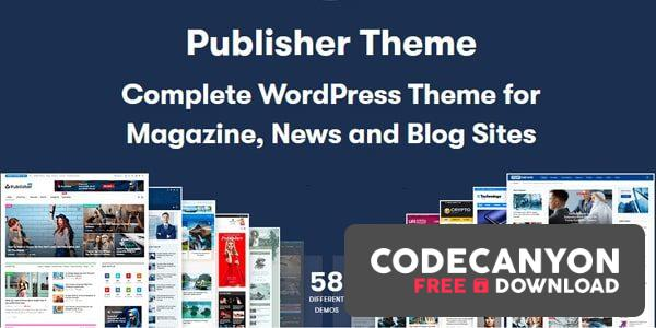 Download Publisher Pro v7.9.0 RC3 – Magazine News Blog AMP (Nulled) Free / Nulled