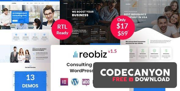 Download Reobiz v3.5 – Consulting Business WordPress Theme Free / Nulled