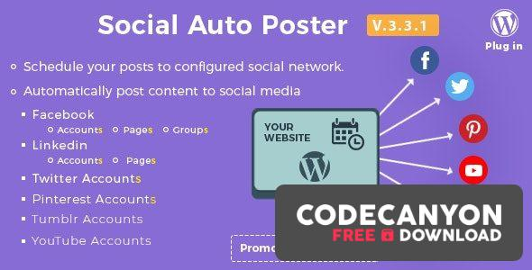 Download Social Auto Poster v4.0.7 – WordPress Plugin Free / Nulled