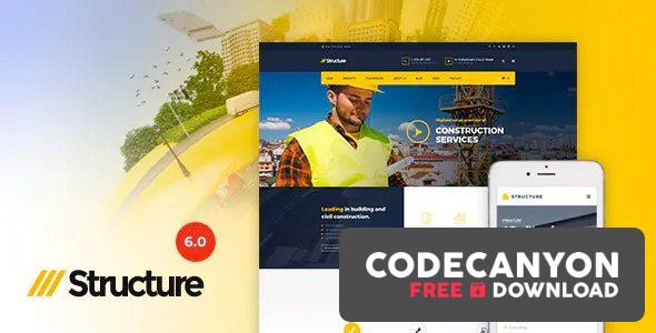 Download Structure v6.9.8 – Construction Industrial Factory WordPress Theme Free / Nulled