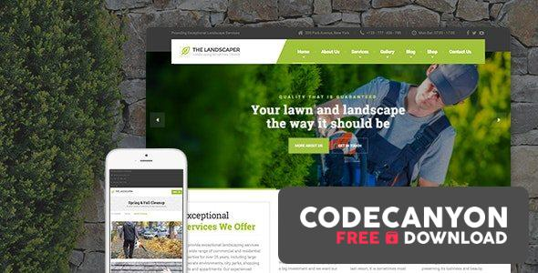 Download The Landscaper v2.4.2 – Lawn & Landscaping WP Theme Free / Nulled