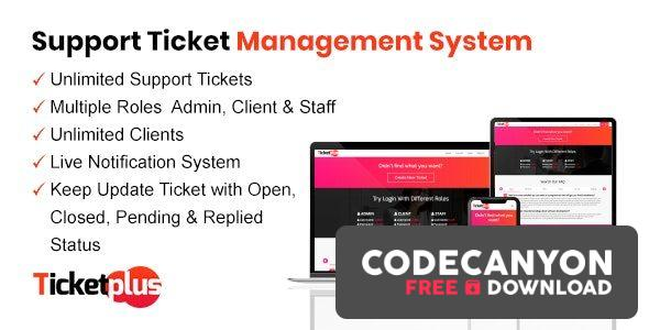 Download TicketPlus – Support Ticket Management System Free / Nulled