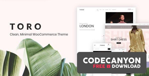 Download Toro v1.1.7 – Clean, Minimal WooCommerce Theme Free / Nulled