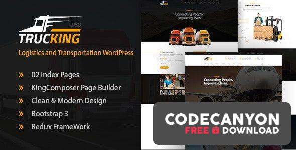 Download Trucking v1.19 – Logistics and Transportation WordPress Theme Free / Nulled