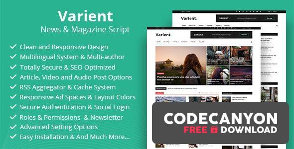 Download Varient v1.8 – News & Magazine Script (Nulled) Free / Nulled
