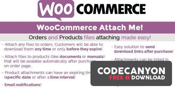 Download WooCommerce Attach Me! v19.7 Free / Nulled