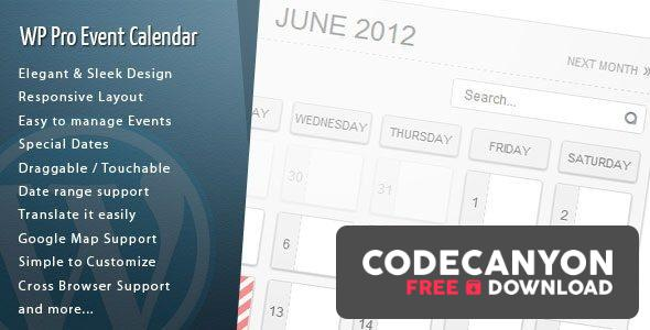 Download WordPress Pro Event Calendar v3.2.6 Free / Nulled