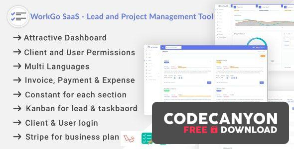 Download WorkGo SaaS – Lead and Project Management Tool Free / Nulled