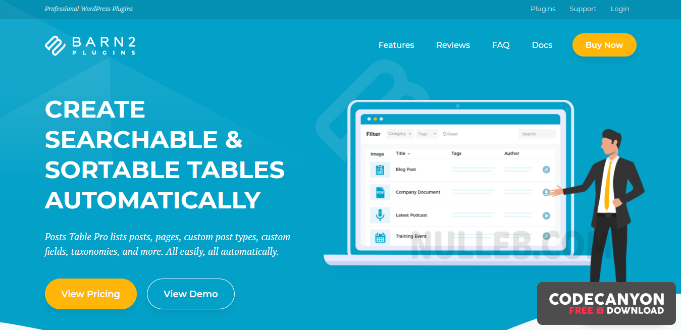 Download WP Post Table Pro 2.3 – WordPress Table Plugin List Posts, Pages Custom Post Types (Nulled) Free / Nulled