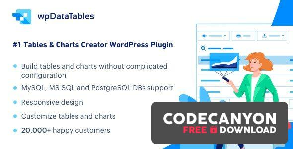Download wpDataTables v3.3 (+Addons) – Tables and Charts Manager for WordPress Free / Nulled