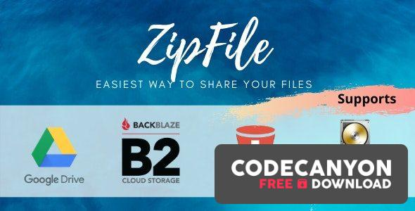 Download ZipFile v2.6 – File sharing made easy & profitable. Use Google Drive, S3 and Backblaze to host files. Free / Nulled
